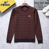 ingrosso maglione nero tigre-Nero a righe a maglia di lana 2019 di MEN Tiger ricamato felpa uomo Marchi Sport Maglione Giacca Pullover design Cardi
