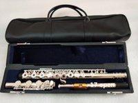 музыкальные флейты оптовых-Новая флейта YFL-471H Серебряная флейта Золотой мундштук C мелодия 17 открытых инструментов E ключ флейта музыкальный подарок бесплатно