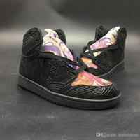 innen-outdoor-turnschuhe großhandel-2019 Basketball Schuhe 1s Los Primeros Cartoon Malerei New Designer Fashion Look Indoor Outdoor Herren Turnschuhe