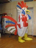 trajes personalizados pollo al por mayor-Traje de mascota de pollo personalizado Tiene una cola colorida envío gratis