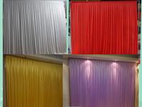 fundo cortina casamento branco venda por atacado-3 m * 3 m pano de fundo branco festival de cortina celebração casamento performance de palco fundo da parede pano de fundo cores customied