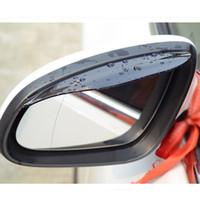 Wholesale opel accessories resale online - 2pcs Car rearview mirror rain eyebrow stickers accessories for audi a3 p peugeot golf mk7 opel corsa d audi