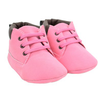 Wholesale suede leather baby moccasins resale online - Toddler Baby Girl Pink Color shoelace Soft Sole Anti slip Suede Leather Shoes Infant Boy Girl Toddler s Causal Moccasins Shoes