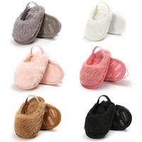 chaussons bébé nouveau-né achat en gros de-Ins automne chaussures bébé d'hiver fourrure chaussures bébé fille TROTTEUR chaussures bébé chaussures Mocassins doux coton nouveau-né Chaussons A8322