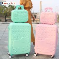 bonjour sacs à main achat en gros de-bonjour kitty valise sac avec sac à main femmes bagages cas belle bande dessinée boîte enfants cadeau