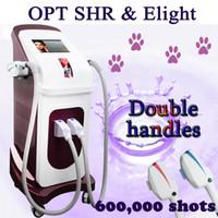 gesicht haarentfernung maschine großhandel-OPT SHR Eligt elight machine shr dauerhafte Haarentfernung OPT SHR handle + Elight handle rf machine face