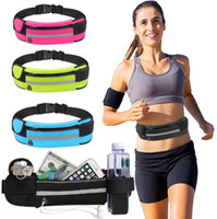 Wholesale water pouch for running for sale - Group buy Running Waist Bag Sports Pocket for phones With Headset Hole Fits Smartphone Sports Water Bags Fitness Belt Chest Pouch