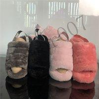 mädchen beiläufige schuhe booten großhandel-Designer 2019 uggs Uggs ugg Australien wgg Stiefel Rutschen Hausschuhe Frauen Australien Mädchen Schuhe Casual Winter Slide Fluff Turnschuhe chaussures Womens Sole Pink