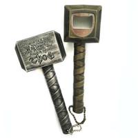 chave de jarro venda por atacado-Martelo de Thor Abridor de Garrafa 2 Cores Em Forma de Martelo Abridores de Garrafa De Cerveja Vinho Saca-rolhas Chave Abridores Jar 10 pcs OOA6803