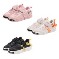 garoto gancho venda por atacado-3 cores sapatos de couro Esporte Criança Boy Shoe menina sapatilhas ocasionais Athletic Shoes Crianças ao ar livre tênis para crianças tamanho gancho laço 26-36