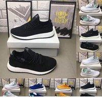 herrero amarillo al por mayor-El más nuevo tenis Hu Pharrell Williams x Stan Smith zapatos para correr para hombres mujeres negro blanco rojo amarillo Jogging fitness zapatillas deportivas zapatillas
