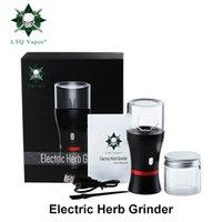 аккумуляторная мельница для табака оптовых-Аутентичные LTQ Vapor Electric Herb Grinder Встроенная батарея 1100 мАч Полностью автоматический травяной металлический ручной измельчитель Измельчитель табака Grinder