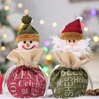 englische dekoration stil großhandel-American Style Weihnachtsschmuck Weihnachten Englisch Schneemann Apple Bag Heiligabend Apple Bag 2018
