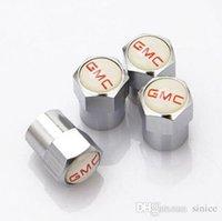 клапаны марки оптовых-Brand New 4шт / комплект металл личность Авто колесо автомобиль шины Шина Клапаны Крышка для Gmc abarht