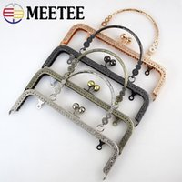 Wholesale clutch purse bag frames clasps resale online - Meetee BF012 cm Embossed Handbag Purse Frames Clutch Kiss Clasp Lock Buckle DIY Craft Metal Bag Handle Accessories