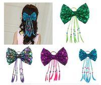 Ribbon FISH Character Girl Toddler Hair Bow Clip Ribbon Sculpture