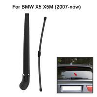 kol bıçakları toptan satış-Freeshipping Araba Arka Cam Silecek Kolu Blade Komple Yedek BMW E70 X5 X5M 2007-NOW LST-BW02 için Set