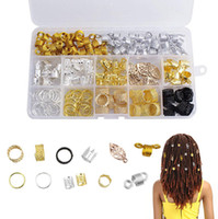 Wholesale hair beads for braiding for sale - Group buy Free DHL Dreadlocks Beads DIY Hair Braid Accessories with Braid Rings Dreadlocks Hair Hoops Clips for Hair Decoration Jewelry for Girl N63Y