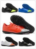 zapatos de futbol usa al por mayor-Asesinos para hombre 12 generaciones de zapatos de fútbol americano para uso profesional Botines de fútbol Crampones de botas Mercurial Superfly VI 360 Neymar Ronal