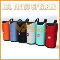 ferngesteuerte lautsprecher großhandel-JBL TG113 Lautsprecher Bluetooth Drahtlose Lautsprecher Subwoofer Freisprechanruf Profil Stereo Bass Unterstützung TF USB-Karte AUX Line In Hi-Fi Laut