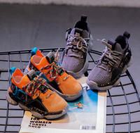 Wholesale baby canvas shoes infant resale online - Designer Kids Shoes Baby Toddler Brand New Sneakers Run Shoes Breathable Comfort Infant Children Boys Girls Chaussures Pour Enfants