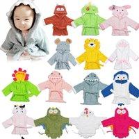 neugeborenen winter sleepwear groihandel-Infant Badetuch Robe 10 Styles Neugeborenes Cartoon-Tier Bademantel mit Kapuze Baby-Nachthemd Nachtwäsche Robes OOA7498-3