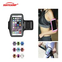 Wholesale smartphone sports armband resale online - Running Bags Men Women Armbands Touch Screen Cell Phone Arms Band Phone Case Sports Accessories for Plus Smartphone