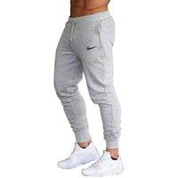 ingrosso pantaloni da jogger-2019 estate New Fashion AnimeThin sezione Pantaloni Uomo Casual Pantaloni Jogger Bodybuilding Fitness Sudore Tempo limitato pantaloni sportivi