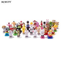 Wholesale kids power cars for sale - Group buy Car Oroament Solar Powered Dashboard Dancing Shaking Head Cartoon Cute Decoration Toys Kids Gift Interior Accessories