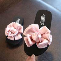 Wholesale fabric flowers for shoes resale online - Kids Summer Shoes Flower Flip Flops For Girls High Quality Handmade Girls Slipper Classic Blue Women Slipper beach casual sandal