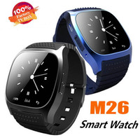 Wholesale new andriod box for sale - Group buy 2019 new Smartwatch M26 Bluetooth Wireless Wearable Device Smart Watch for Andriod mobile phone Sport Watch with Retail Box G BS