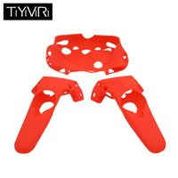 Wholesale vr headset controller resale online - Anti slip Wireless Gamepad For HTC VIVE VR Virtual Reality Headset Silicone Rubber VR Glasses Helmet Controller Handle Case new