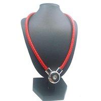 ingrosso collane magnetiche del pendente per le donne-Moda originale davvero genuino in pelle 18mm con bottone a pressione fascino magnetico catenaccio pendente collana di gioielli per le donne regalo 50 cm