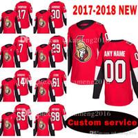 camisetas de hockey madrigueras al por mayor-Personalizado Nuevo Senadores de Ottawa 17 Nate Thompson 30 Andrew Hammond Jersey 7 Kyle Turris 29 Johnny Oduya 14 Alexandre Burrows Hockey Jerseys