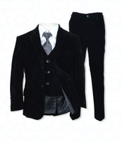 Wholesale baby wear photos for sale - Group buy Boys Black Velvet Boy Suits Wedding Suits Children s Formal Wear Baby Suits Custom Made