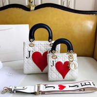 bolso de mujer blanco al por mayor-TS D Valen's Day Edición limitada bolsos venta caliente de alta calidad para mujer damas blanco y negro Messenger bag bandolera TSYSBB144