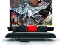 Wholesale urban art paintings resale online - Street urban graffiti art painting banksy modern Home Decor Handpainted HD Print Oil Painting On Canvas Wall Art Canvas Pictures