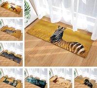 ingrosso tappeti benvenuti-3D Horse Zebra Tappeto stampato Tappeto per porta Tappeti da gioco Tappeto Tappeto Soggiorno Cucina Ingresso Animal Welcome Tappetini
