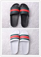 толстые плоские сандалии оптовых-Мужчины Женщины huaraches Сандалии Дизайнерская обувь Роскошные горки Летняя мода Широкие плоские скользкие с толстыми дизайнерскими сандалиями Тапочка Флип-флоп