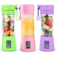 Wholesale blade sports for sale - Group buy Portable Blender MINI USB rechargeable Electric juicer Blender ml Blades Fruit Juicer Maker Blender Sports Juicing Cup KKA7873N