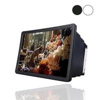 усилители оптовых-Мобильный телефон видео экран лупа усилитель расширитель стенд держатель для 3D кино дисплей телефон экран лупа для смарт-телефон