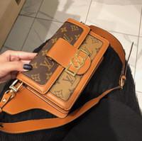women fabric wallets al por mayor-Bolso popular de la tela escocesa de las mujeres de la moda con la cartera de alta calidad de las mujeres de la tela del cuero de la bolsa de mensajero del logotipo