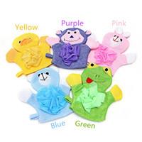 bebek havlu satışı toptan satış-Sıcak Satış 1 ADET Bebek Çocuk Duş Banyo Banyo Havlu 5 Renkler Hayvanlar Stil Duş Yıkama Bezi Havlu Sevimli