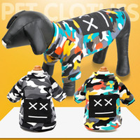 Wholesale camouflage diapers resale online - Pet dog clothes Sweater Autumn and winter new four legged DOG Pet clothes Not down velvet camouflage fashion sweaters Puppy clothing