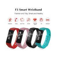 Wholesale pink bracelets for sale resale online - Hot Sale New F3 Smart Band Bracelet Pedometer Fitness Tracker waterproof Watch Remote Camera Vibration Wristband For Android iOS