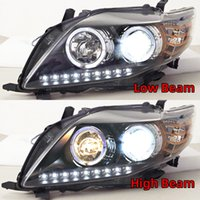faróis do carro toyota venda por atacado-caso 2PCS Car Styling Head Lamp LED Farol DRL Bi-Xenon lente Xenon médios Para Toyota Corolla Altis Headlights 2008 2009 2010
