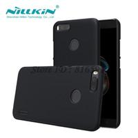 nillkin harte hülle großhandel-Großhandel Mi A1 Fall Nillkin Frosted Schild harter rückseitige Abdeckung Fall für Xiaomi Mi A1 / 5X / MiA1 / Mi5X Geschenk-Telefon-Halter