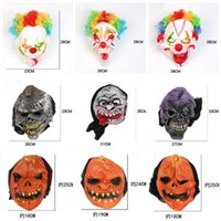 Wholesale new men latex masks resale online - Funny Scary Horror Mask Halloween Party New Year Fool s Day Latex Mask Woman Man Cosplay Costume Full Face Masks LXL556