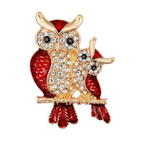 Wholesale decorative rhinestone brooch resale online - Owl Pins Animal Brooch Crown Rhinestone Brooch Clothes Jewelry Antique Silver Decorative Party Jewelry Collar Pin AL232