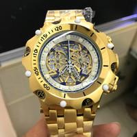 relógios mens 52mm venda por atacado-Hot Luxo Mens Watch 3A Qualidade 52mm Reserva Multifuncional relógio de quartzo, oco luminosa Dial Relógio Resistente à água